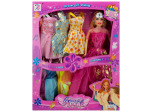 Stylish Fashion Doll with Colorful Dresses