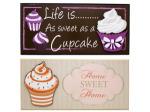 Cupcake Wall Plaque