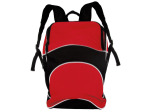 Red and Black Canvas Backpack