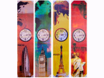 World Landmark Canvas Wrap Art with Clock