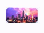 Cityscape Sunset Wrap Canvas Art