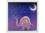 Starry Elephant Night Musical Light Up Art