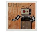 Retro Robots Musical Light Up Art