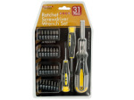 31-Piece Ratchet Screwdriver Wrench Set