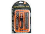 27-Piece Ratchet Screwdriver Set with Organizer Case