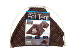 Portable Pet Tent with Soft Fleece Pad