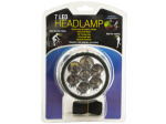 7 LED Pivoting Headlamp with Adjustable Strap