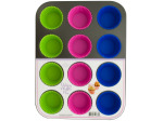 Muffin Baking Pan with Silicone Cups