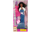 Glamorous Black Fashion Doll with Dress & Handbag