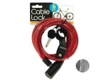 Self Coiling Bicycle Cable Lock with Two Keys