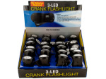 LED Crank Flashlight Countertop Display