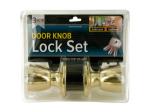 Locking Door Knob Set with 2 Keys