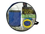 Folding Nylon Bucket with Metal Handle