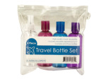 Travel Bottle Set in Zippered Pouch