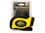 Self-Locking Tape Measure with LED Flashlight