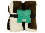 Cozy Coral Fleece & Heavy Sherpa Throw Blanket