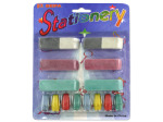 Erasers, pack of 14 assorted sizes