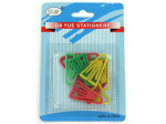 Plastic paper clips, assorted colors