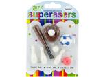 sports theme erasers