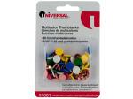 60 pc 5/16 multicolor thumbtacks