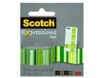 Scotch Expressions Green Stripes Tape