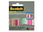 Scotch Expressions Pink & Aqua Pattern Tape
