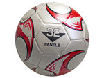 size 5 soccer ball with red wheel design