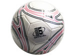 size 5 silver soccer ball with swirl design