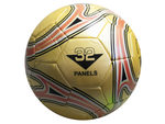 size 5 gold soccer ball with swirl design