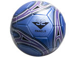 size 5 blue soccer ball with swirl design