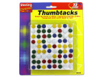 72 colored thumbtacks