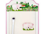 Pigs Magnetic Memo Board & Keys Holder