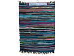 Multicolor Leather Chindi Rug