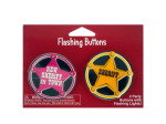 2 pack sheriff flashing buttons