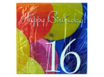 18 Count 16th balloon napkins