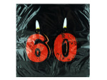 18 count 60th birthday napkins