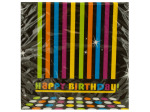 18 pack 70`s birthday napkins