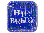 15 pack swirls happy birthday plates
