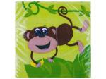 20 pack 9 4/5 x 9 3/4 in. monkeys beverage napkin