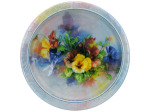 8 count 7 inch pansies plates