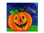 18ct pumpkin smile napkin