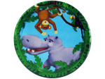 "8ct 7"" jungle pals plates"