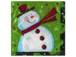 16 count polka dot christmas napkins