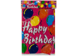 Happy birthday balloons tablecover