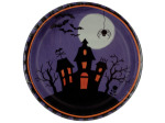 8 pk 6 7/8 in. halloween haunting paper plates