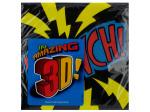 16 pack 9 7/8 x 9 7/8 in. superhero fun beverage napkins