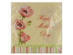 16 pack 12 7/8 x 12 3/4 in. poppy trio mothers day napkins