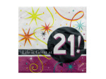 Life is Great at 21 Napkins Set