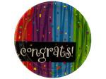 8 pack congrat milestone celebrations 6 3/4 inch plates