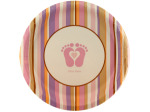 8 pack tiny toes pink plates 6 7/8 inch